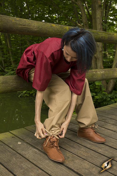 Pantalon paysan couleur sable M 4