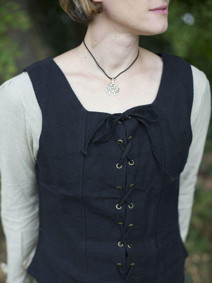 Gilet en coton épais, noir 4