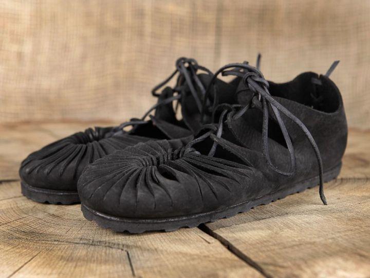 Ballerines médiévales en cuir avec semelle 40   noir 4