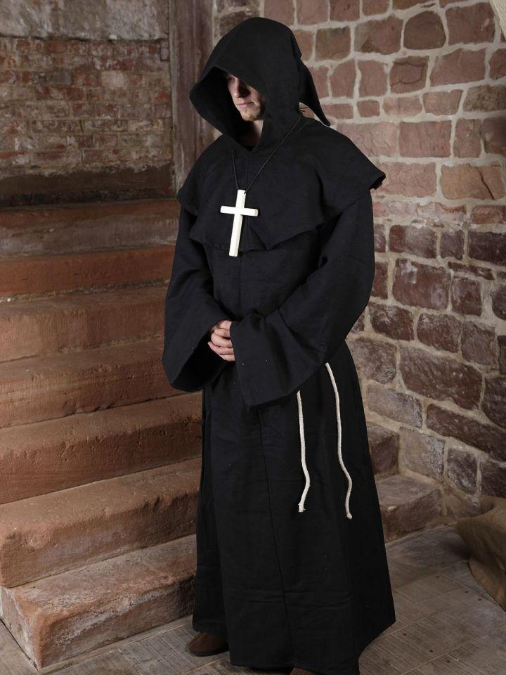 Habit de moine marron | avec croix 4