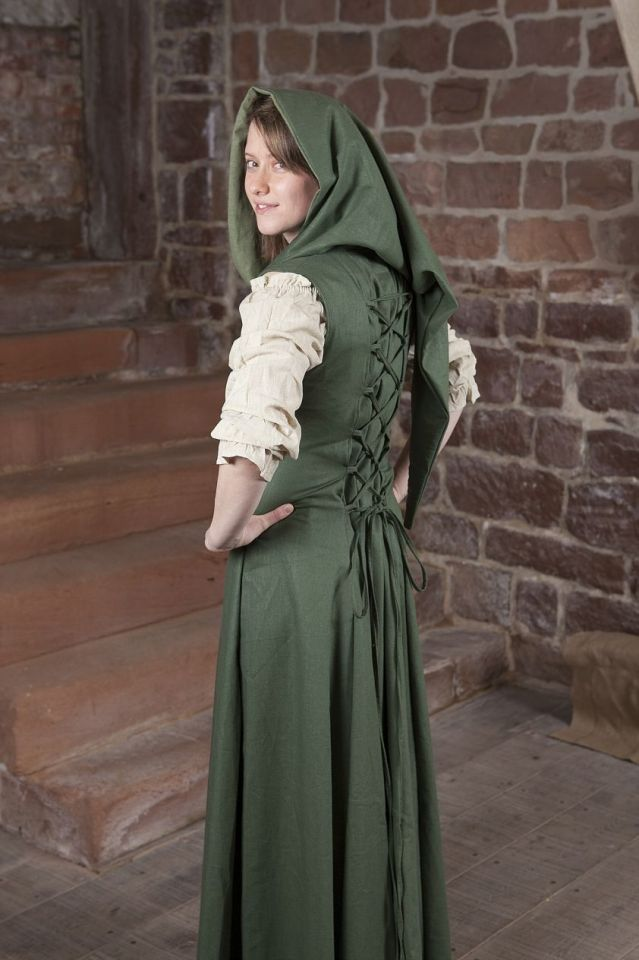 Robe médiévale Loris en vert 36 4