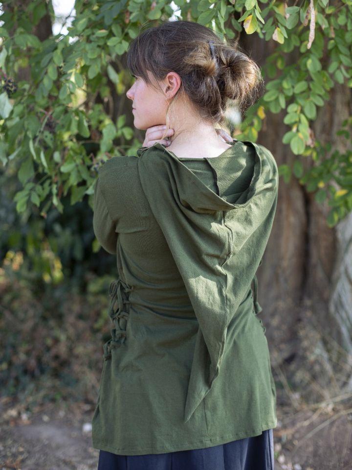 Blouse elfique en vert 4