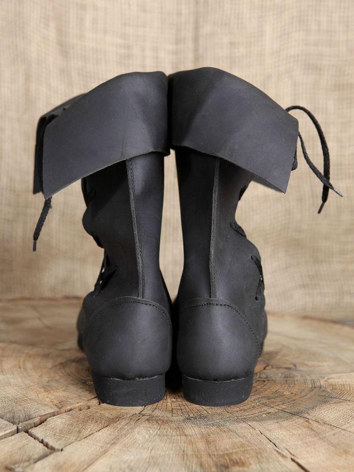 Bottines médiévales en cuir 46   noir 4