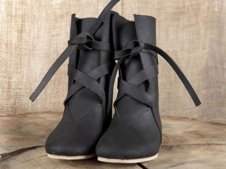 Bottines viking en cuir noir 4