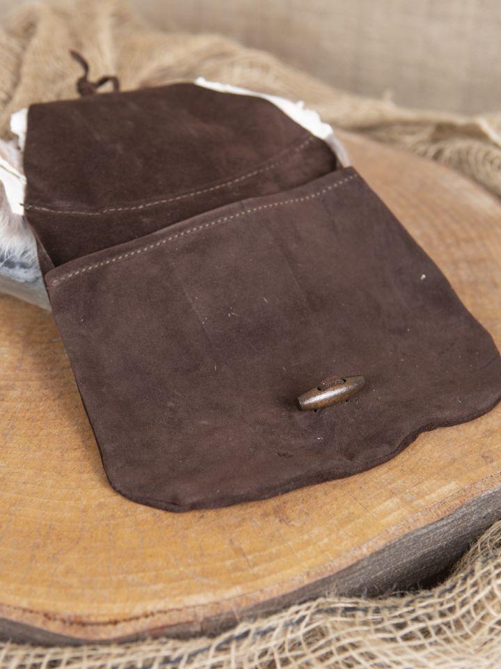 Sacoche de ceinture tête de renard, en brun 4
