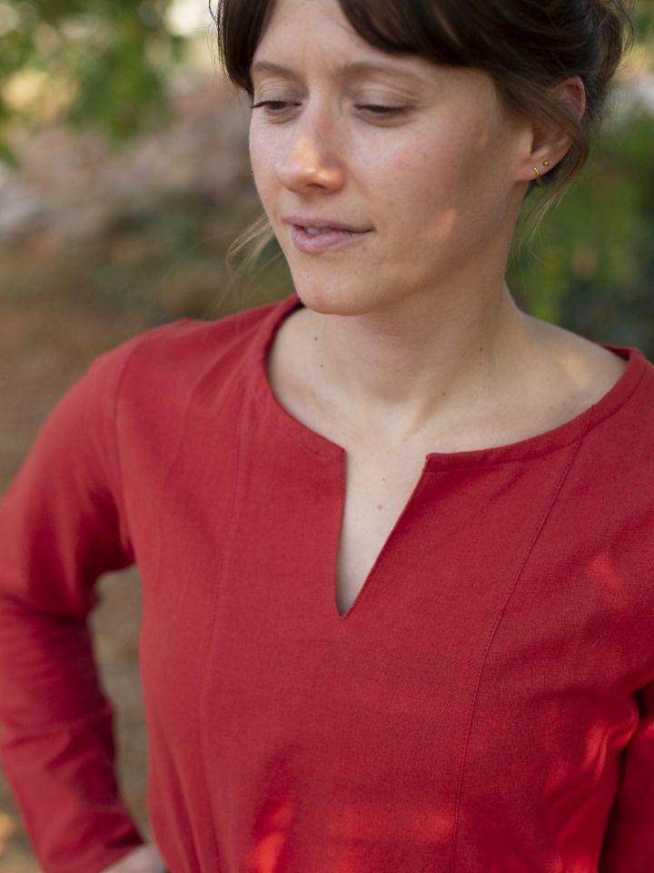Robe médiévale simple, rouge 4