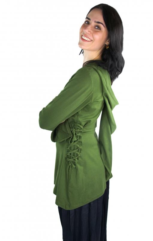 Blouse elfique en vert XXL 4
