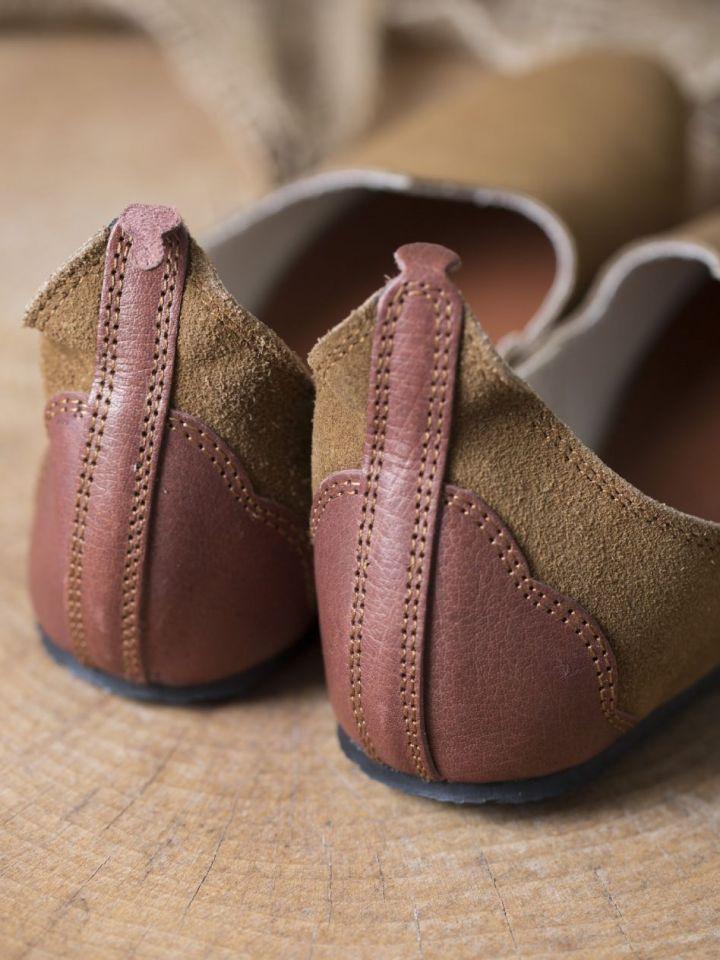 Chaussures médiévales, semelle en caoutchouc, marron 40 4