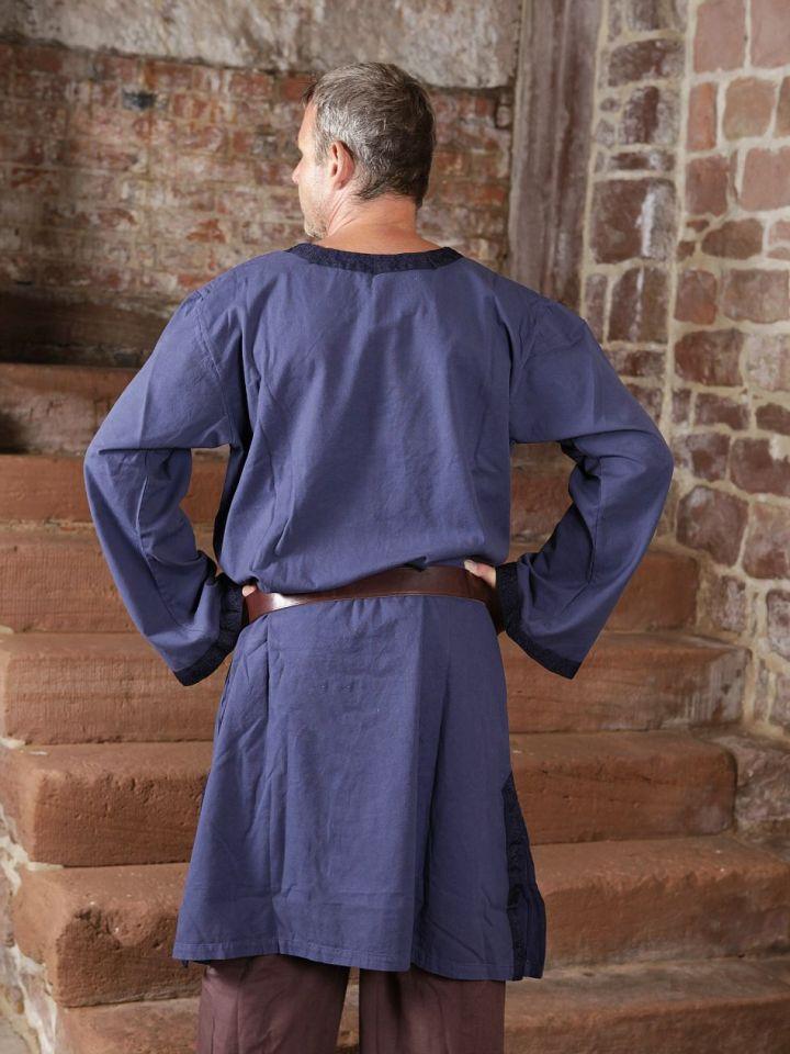 Tunique médiévale à galon en bleu XL 4