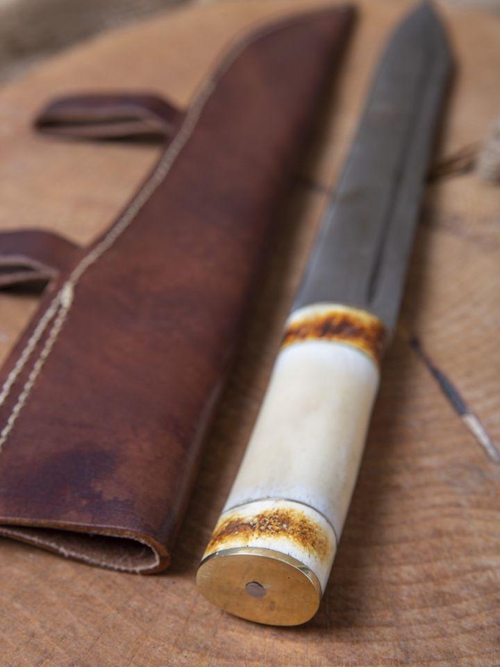 Sax médiéval avec lame damassée 4