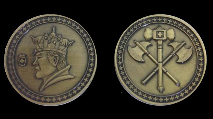 Pièces de monnaie GN Roi avec pochette en cuir 4