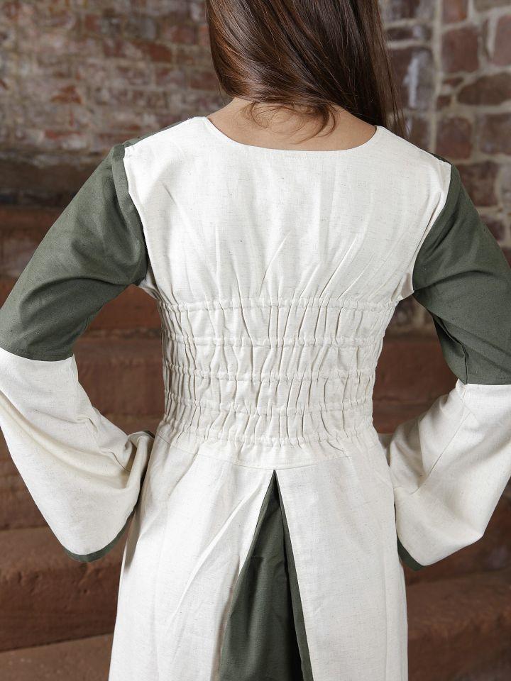 Robe bicolore en lin 4