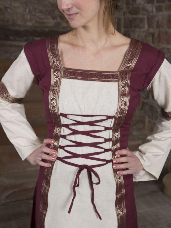 Robe médiévale à manches amovibles 4