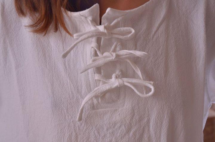 Blouse blanche à manches longues XL 4