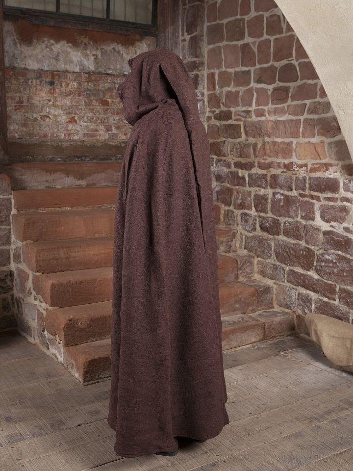 Manteau en laine à capuche en marron 4