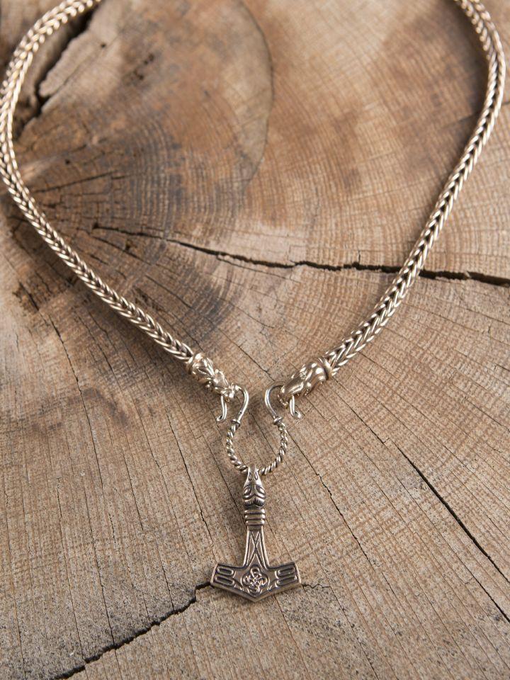 Collier Viking mailles tressées, 65 cm 4