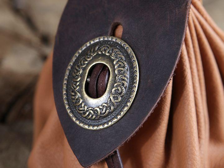 Bourse de ceinture en cuir marron clair 4