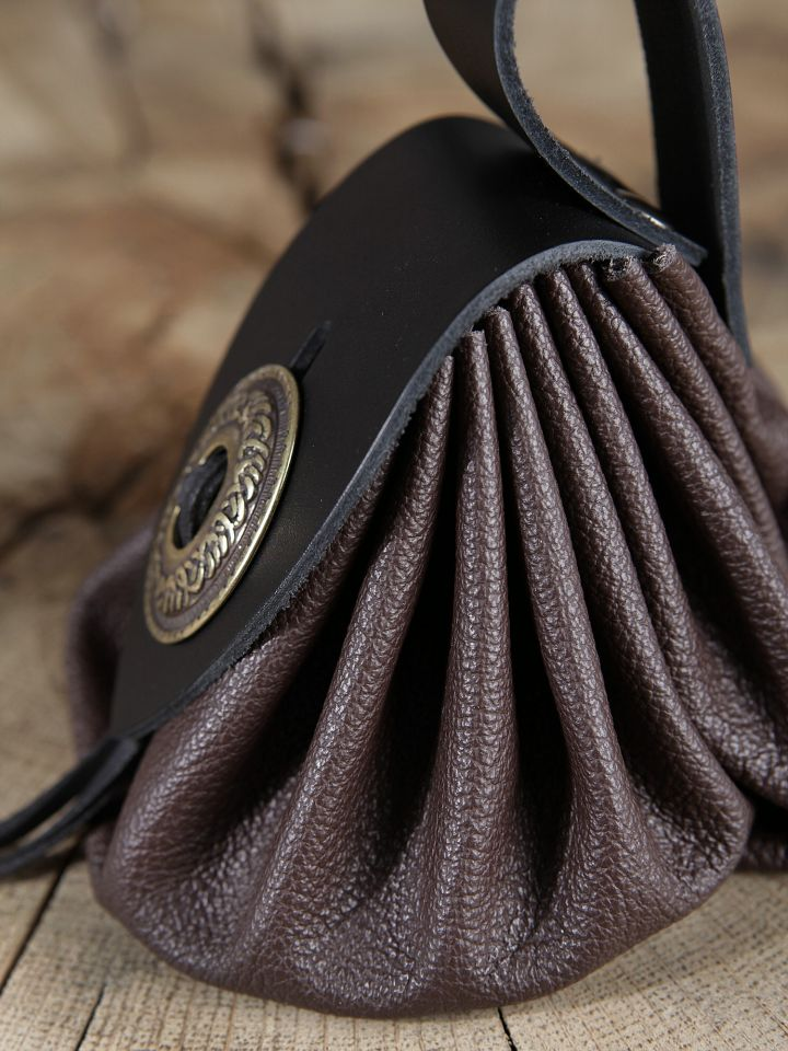 Bourse de ceinture en cuir marron 4