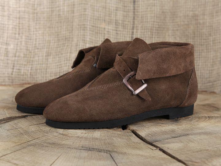 Chaussure en cuir chamoisé 40 | marron 4