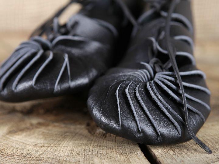 Ballerines médiévales en cuir 39 | marron 4