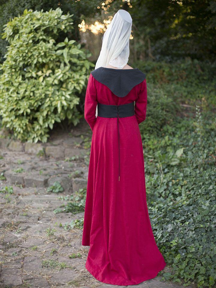 """Robe burgonde """"Marguerite d'York"""" 4"""