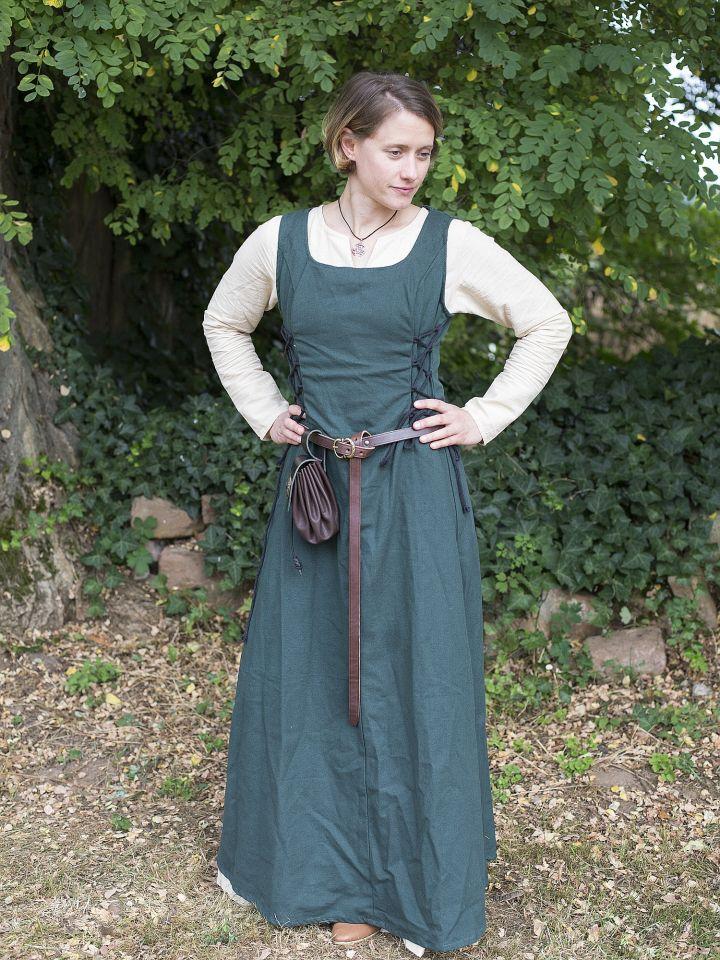 Robe médiévale sans manche en vert M 4