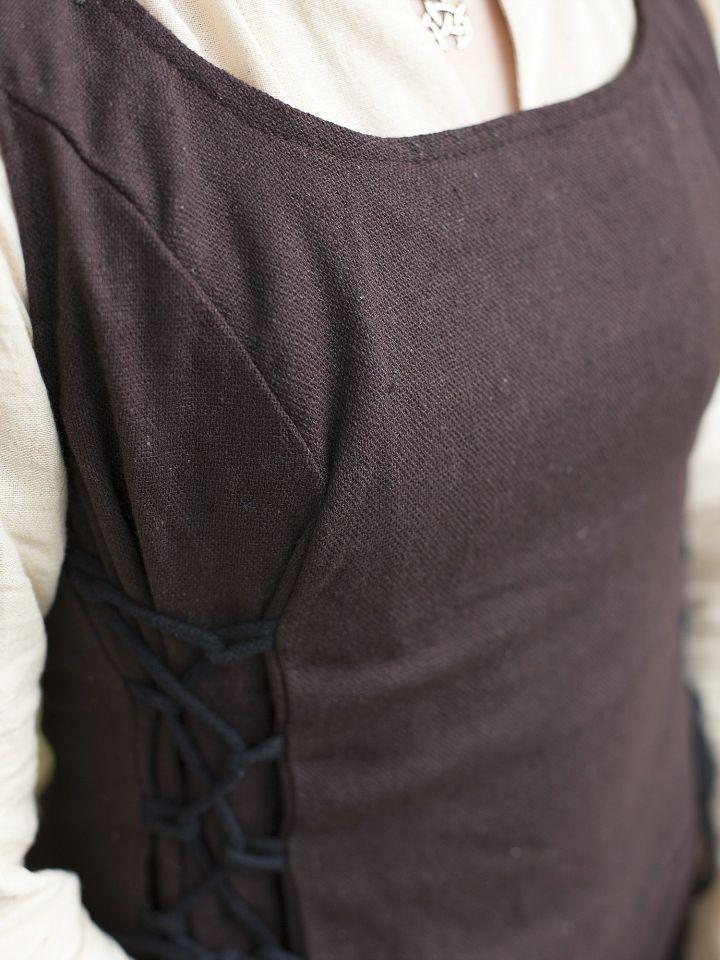 Robe médiévale sans manche en marron XL 4