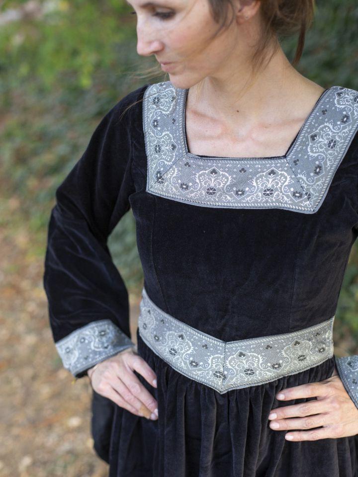 Robe médiévale Bourgogne, en noir 4