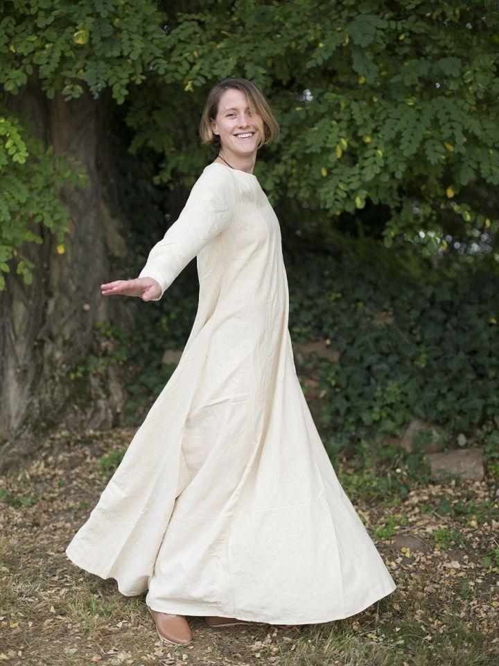 Robe médiévale simple en blanc-écru XXXL 4