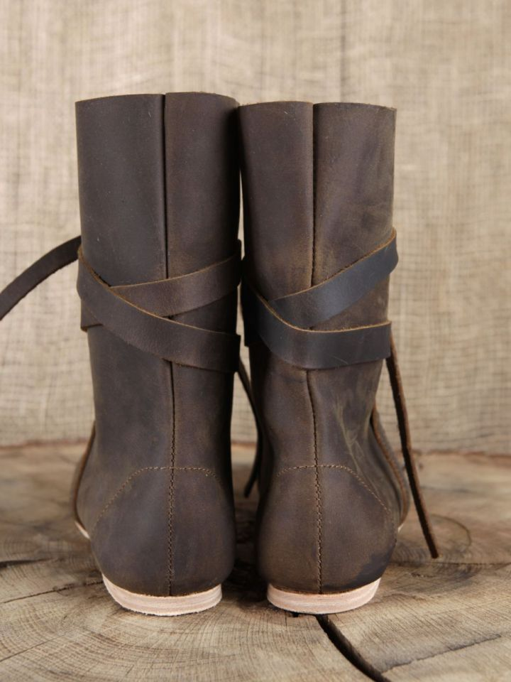Bottines viking en cuir marron 46 4