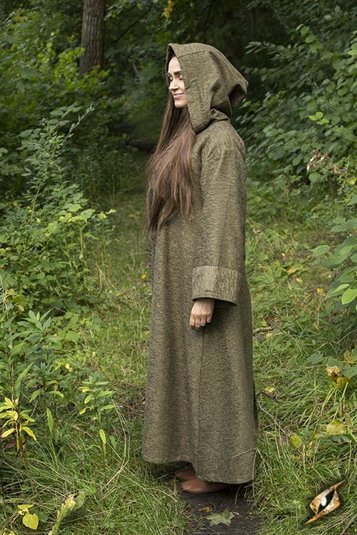 Grand manteau à capuche vert 4