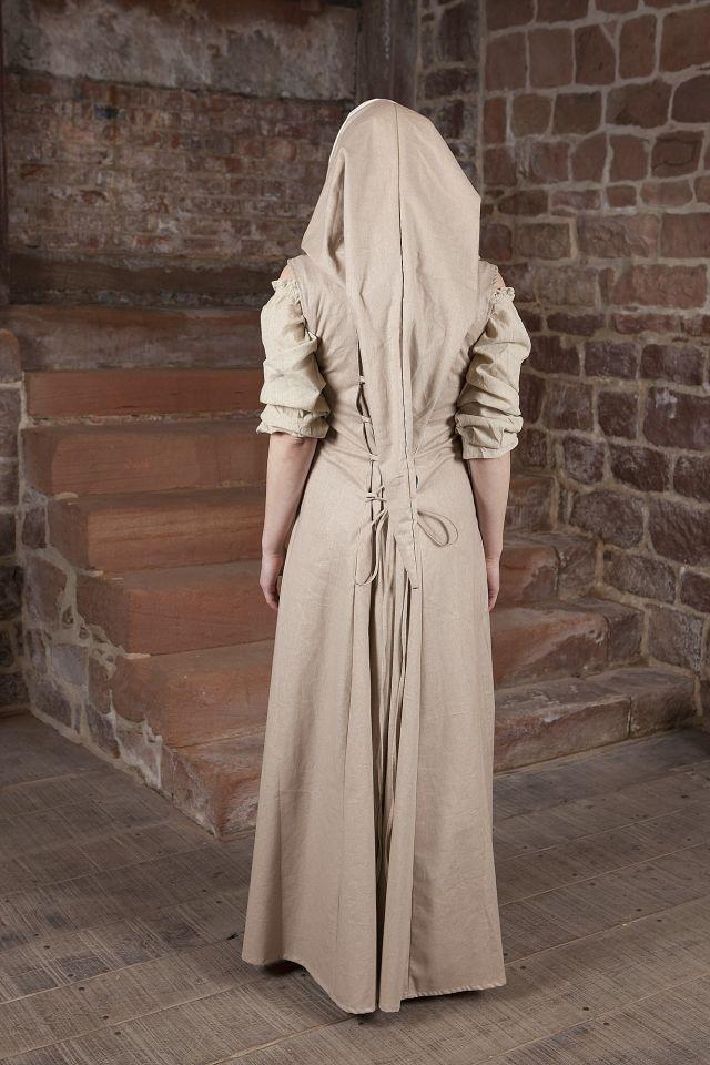Robe médiévale Loris en blanc et crème 4
