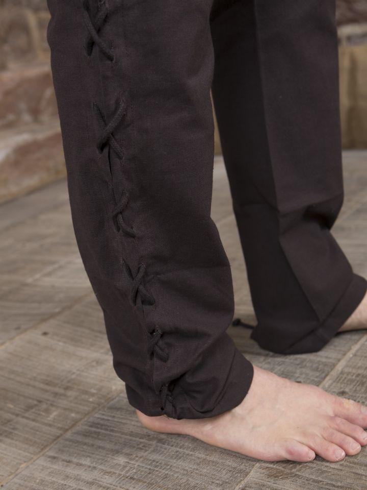 Pantalon en coton en marron 4