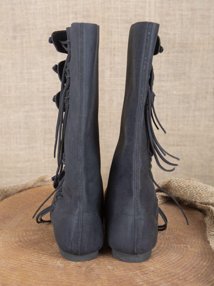 Bottes viking en nubuck noires 4
