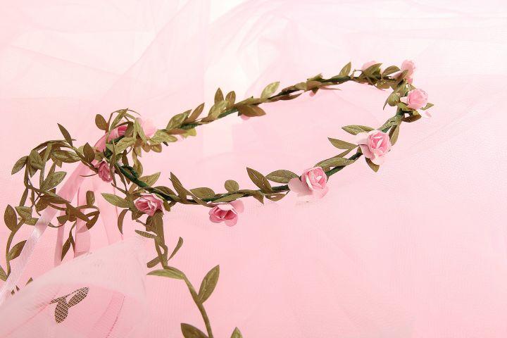 Couronne de roses de couleur rose 4