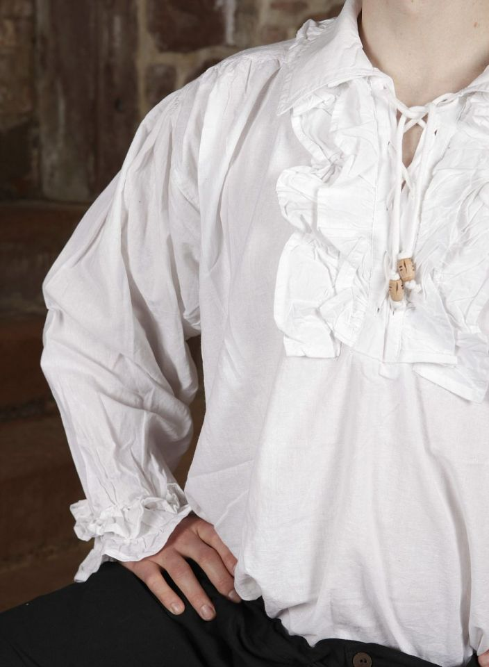 Chemise à jabot en coton L 5