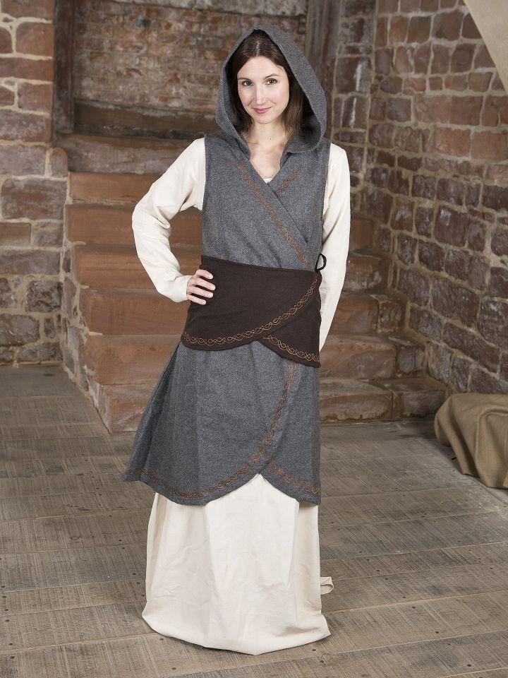 Robe portefeuille Dala en feutre gris 5