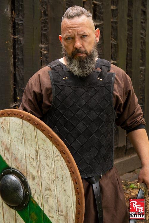 Armure Viking en cuir noir 5
