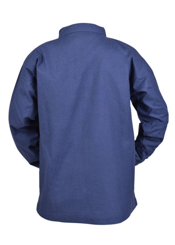 Chemise médiévale pour enfant, en bleu 5