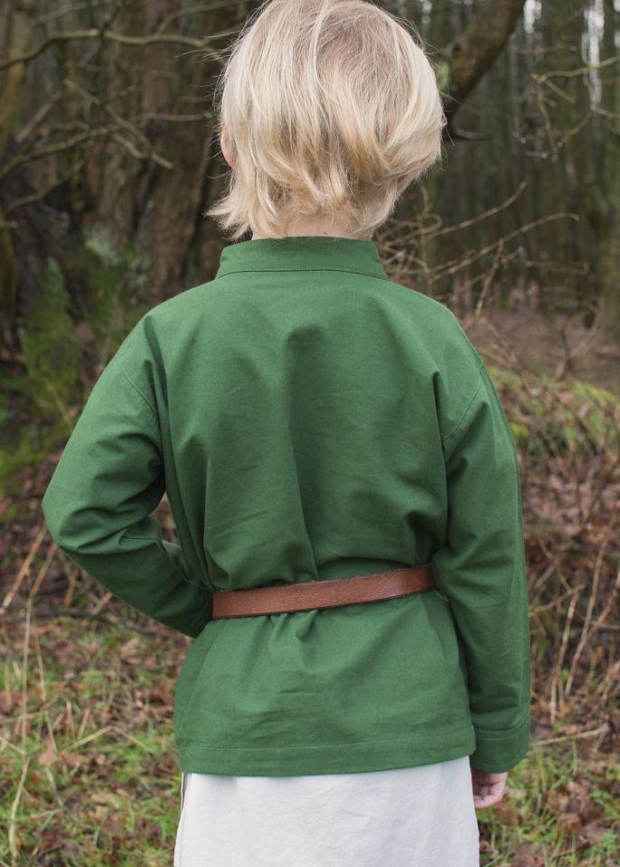Chemise médiévale pour enfant, en vert 5