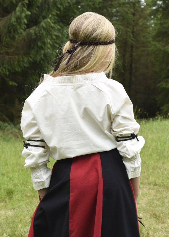 Jupe médiévale pour enfant, rouge et noire 5