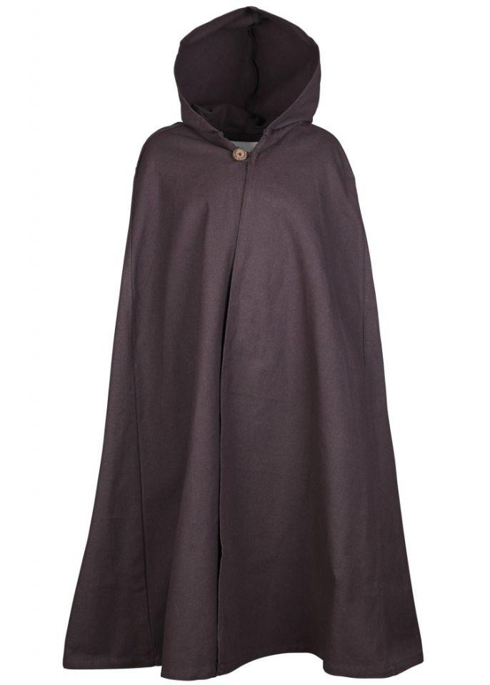 Cape médiévale pour enfant en coton marron 5