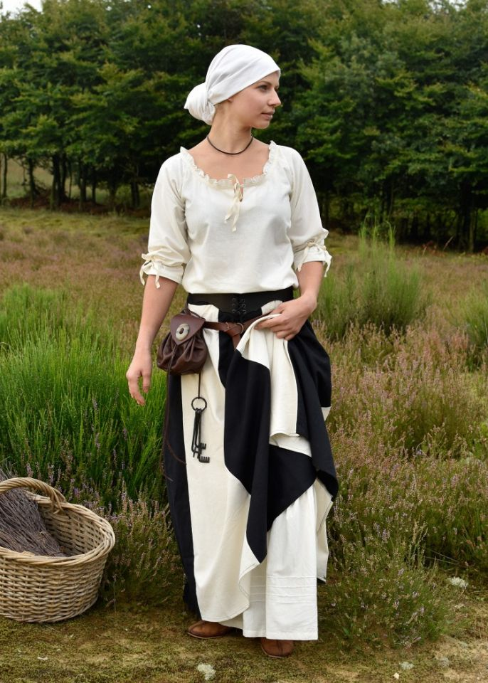 Grand foulard médiéval, écru 5