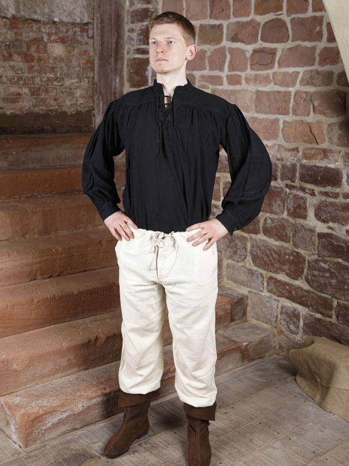 Pantalon médiéval en coton, avec poches noir S | noir 5