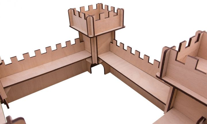 Chateau en bois 3D 5