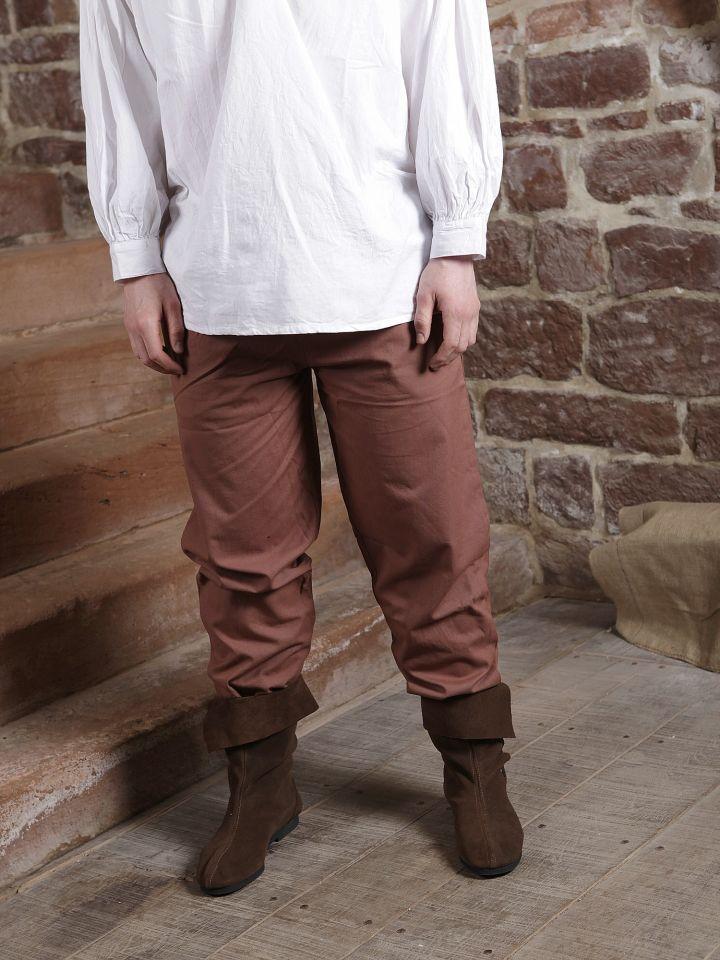 Pantalon médiéval en coton marron 5