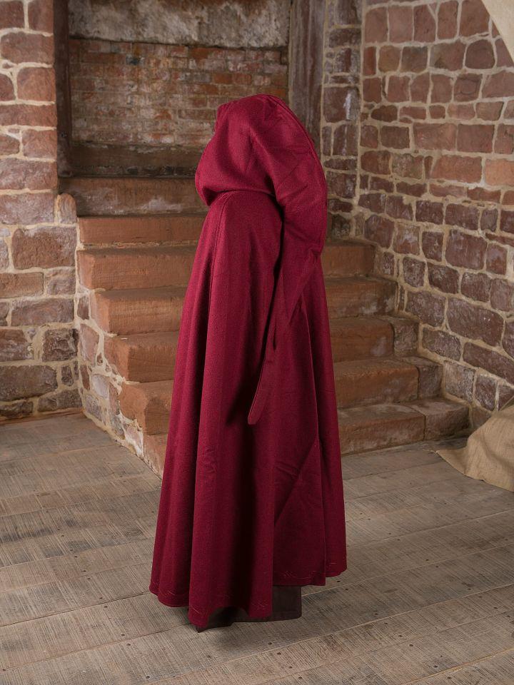 Cape en laine brodée, rouge 5
