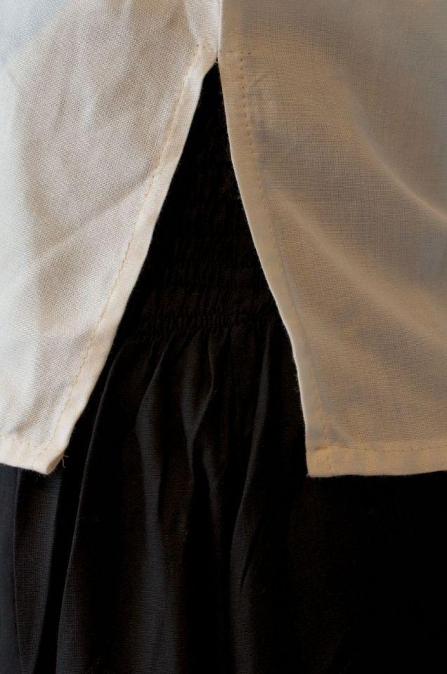 Blouse avec laçage dans le dos XXXL | blanc-écru 5