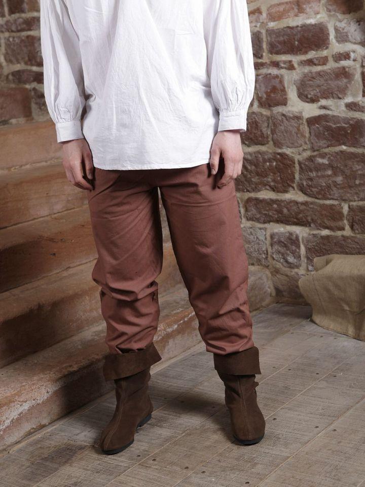 Pantalon médiéval en coton marron XXL 5