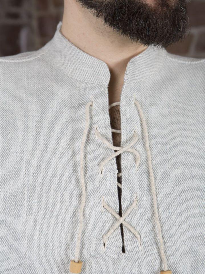 Chemise médiévale épaisse, en gris chiné XL 5